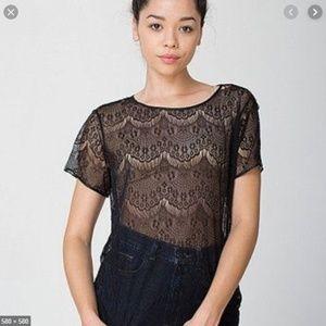 American Apparel El Salvador lace tshirt
